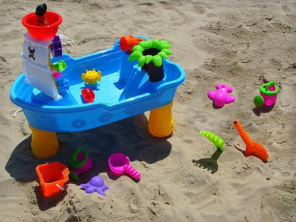 Sand Water Table Toy Play Set Pirate Ship Activity