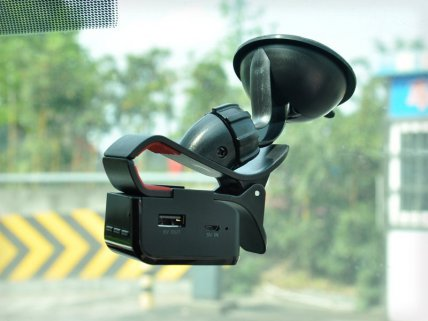 4-in-1 Handsfree FM Transmitter Car Holder