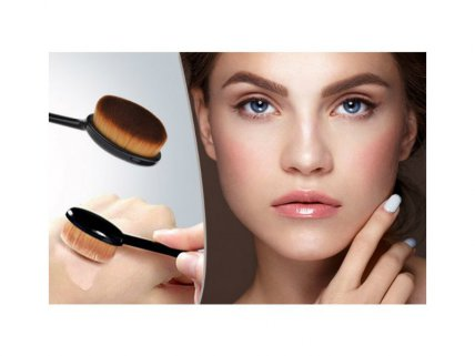 10 Oval Curve Foundation Brush Set