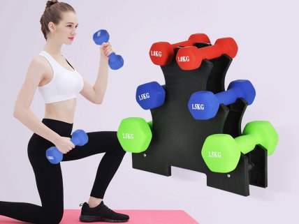 Neoprene Dumbbell Work Out Set - 6PC