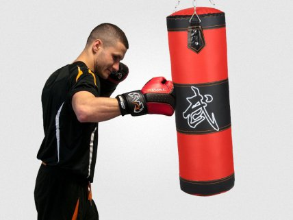 Red and Black Boxing Punching Bag 80cm