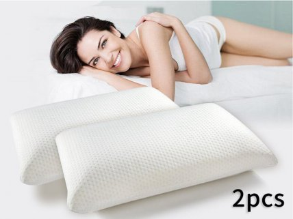 2 x Premium Visco Memory Foam Pillows