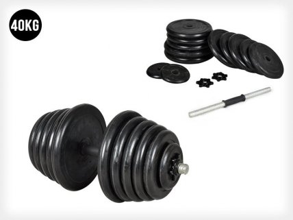 40KG Adjustable Rubber Dumbbell Set