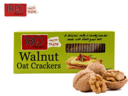 180 Degrees Walnut Oat Crackers - 150g 4pk