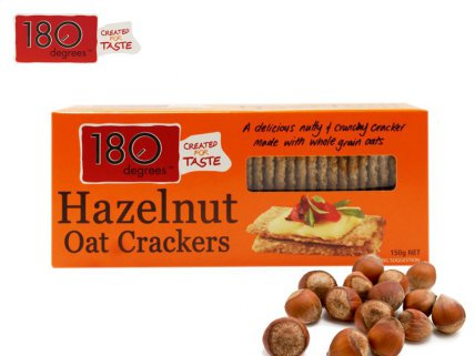 180 Degrees Hazelnut Oat Crackers - 150g 4pk