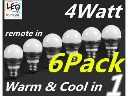 4th Gen 4W LED Bulbs - 6pack