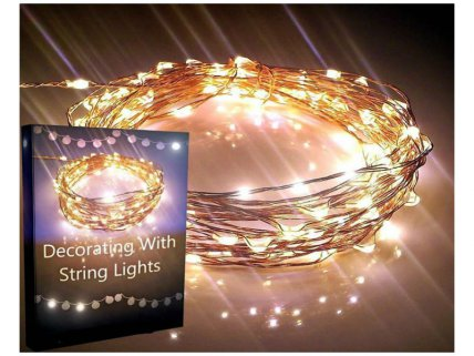 SOLAR LED STRING LIGHTS - 2PACK