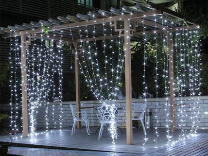 240v LED String Fairy Lights White
