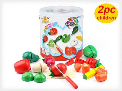 Wooden Fruit & Vege Slice Toy