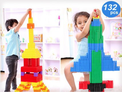 132pc Bullet Building Block Toy