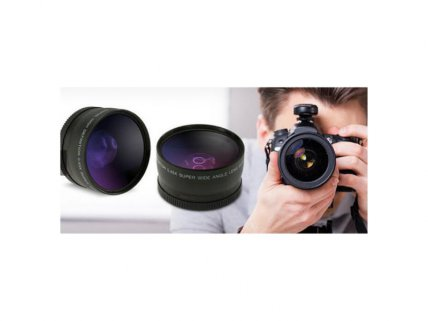 Wide Angle and Macro DSLR Camera Lens