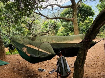 Parachute Hammock with Mosquito Net