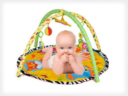 Cross Baby Play Gym Mat with Toys