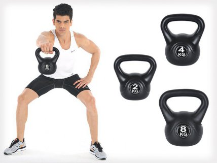 3PC Kettle Bell Set 2kg / 4kg / 8kg