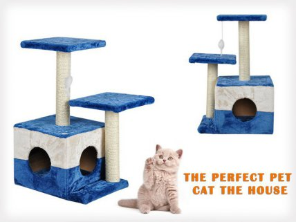 3 Layers Cat Tree Scratching Post & Toys - 70cm
