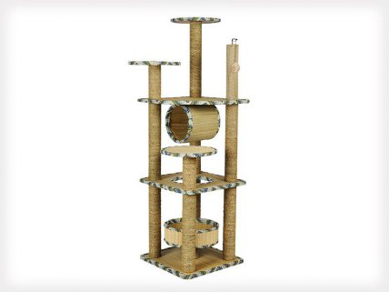 5 Layers Cat Tree Scratching Post & Toys - 140cm