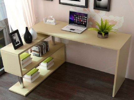 2 in 1 Rotatable Office Computer Desk Corner Table