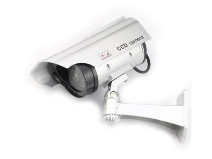 Solar Dummy CCTV Security Camera w/ LED Light