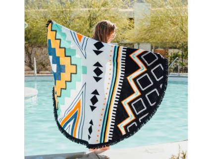 Tasseled Colourful Beach Throw