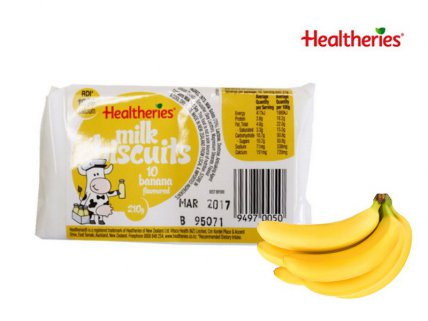 Healtheries Milk Biscuits 210g - Banana 4pk