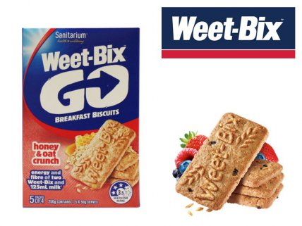 Weet-bix GO Honey & Oat Crunch 250g x 5pk