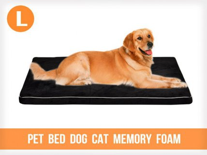Pet Bed Dog Cat Memory Foam - Large
