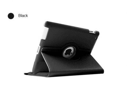 PU Leather iPad Case with 360 Rotating Stand