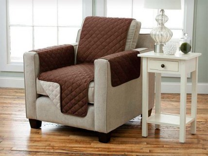 Reversible Pet Furniture Protector - Single Chair