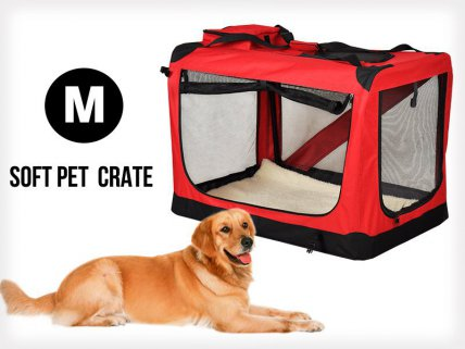Collapsible Portable Pet Dog Cat Carrier - M