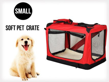 Collapsible Portable Pet Dog Cat Carrier - S