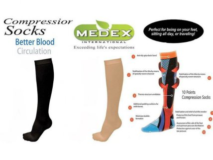 Unisex Compression Support Socks - 2pk