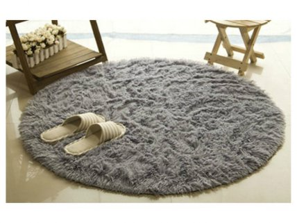 Round Indoor Shaggy Area Rug