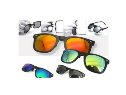 Pair of Clip-On Anti-UV Sunglasses