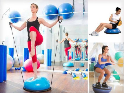 Fitness Yoga Ball with Resistance Straps