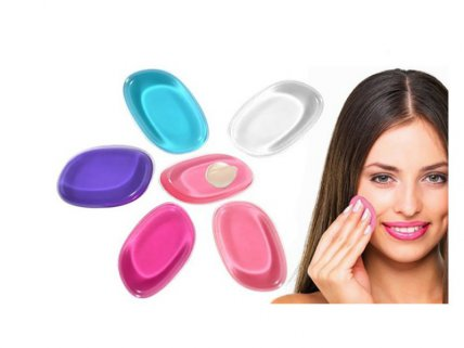 Multi Color Silicone Make-Up Sponges - 4pk