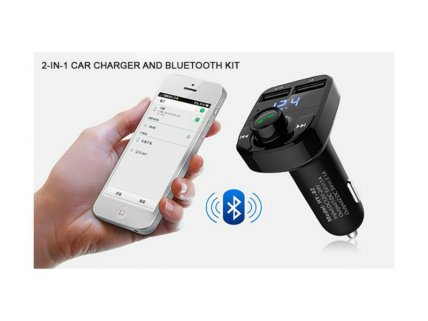 2-in-1 Car Charger and Bluetooth FM Kit
