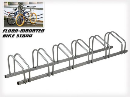 6-Slot Floor Mounted Bike Stand