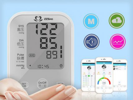 Bluetooth electronic blood pressure monitor