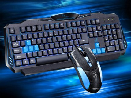Backlit Gaming Keyboard with Gaming Mouse