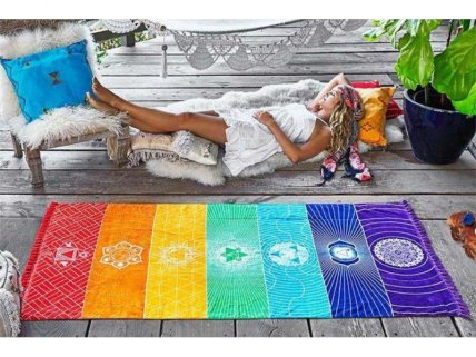 Colourful Chakra Throw