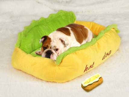Hot Dog Shaped Pet Bed - Medium