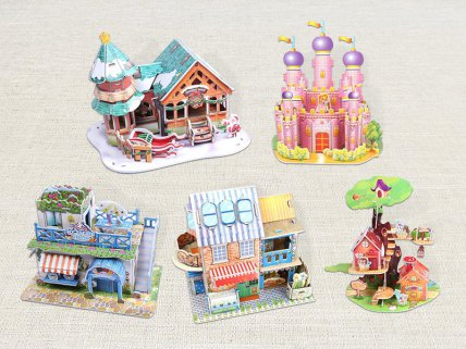 Children's 3D Puzzle 5pc - Girl