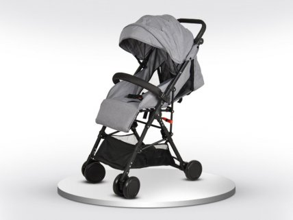 Foldable Baby Travel Stroller - Grey