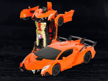 Lamborghini RC Transformers Toy Car - Orange