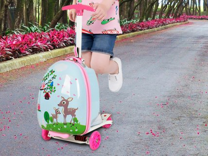 Kids Suitcase Scooter - Sika Deer
