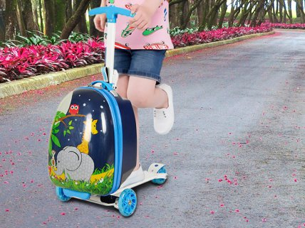 Kids Suitcase Scooter - Elephant