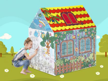 Kids Re-Usable Colouring Tent