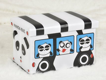 Kids Shoe Changing Stool - Panda Bus
