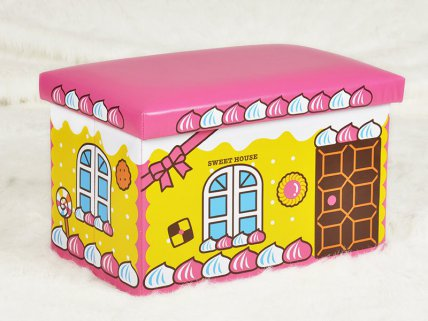 Kids Shoe Changing Stool - Candy House