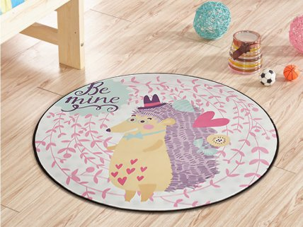 1m Kids Carpet Mat- Hedgehogs
